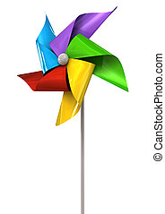 Colorful Pinwheel Perspective - A perspective view of a...