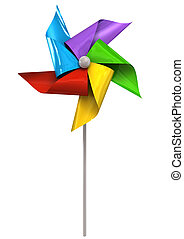 Colorful Pinwheel Front - A front view of a regular toy...