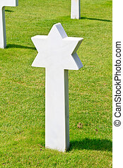 Marble Star of David of fallen Soldier at American War...