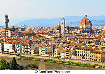 View of Florence / Firenze, Tuscany, Italy - View of...