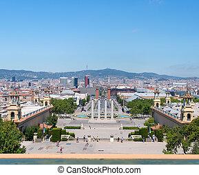 Espanya Square - Aerial view of Barcelona, Espanya Square,...