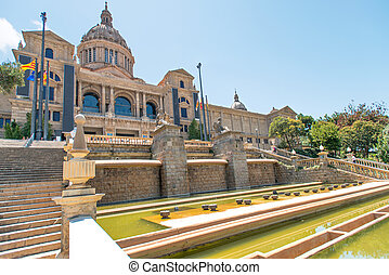 Placa De Espanya the National Museum in Barcelona - Placa De...