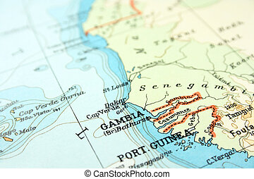 Gambia in Africa, the way we looked at it in 1949