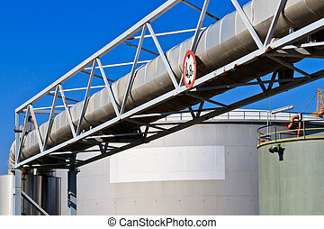 Oil reservoir on a petrochemical plant