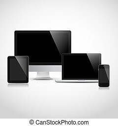 Realistic vector electronic devices - Realistic vector...