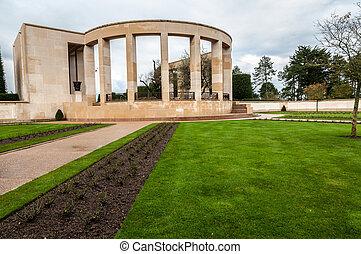 Memorial to the fallen Americans in Normandy in World War II