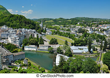 Summer view of Lourdes - Lourdes is a major place of Roman...