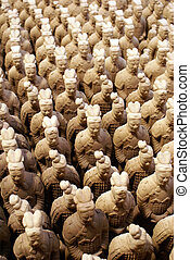 Army - Terracota army on sale in Sian, China