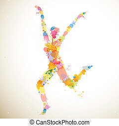 Abstract Woman - Vector Illustration of an Abstract dancing...