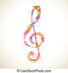 Colorful Clef - Vector Illustration o