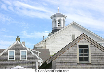 Cupola - The cupola of the town library in Provincetown,...