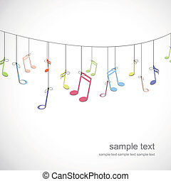 Colorful Notes - Vector Illustration of an Abstract...