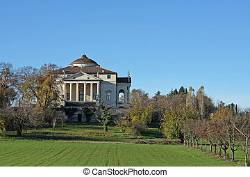 historic Italian Palladian villa called La Rotonda over the...