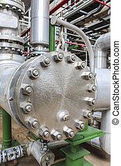 Pipe line - Steel Pipe line in chemical factory