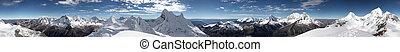 Summit panorama - Circular 360 degrees panorama from Mount...