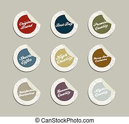 Retro vintage labels in editable vector format