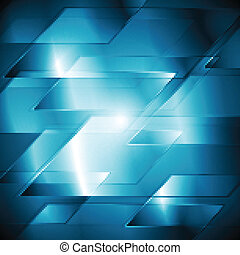 Abstract technical background - Dark blue technology design...