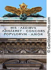 Double headed Eagle on Austrian Imperial palace (Hofburg) in...