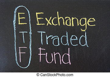 ETF acronym Exchange Traded Fund,Business concept ,color...
