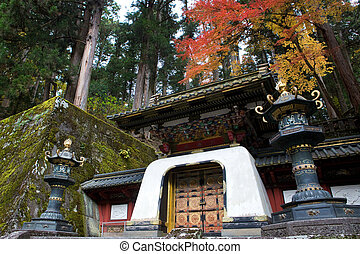 Rinno-ji Buddhist temple in Nikko, Japan, famous UNESCO...