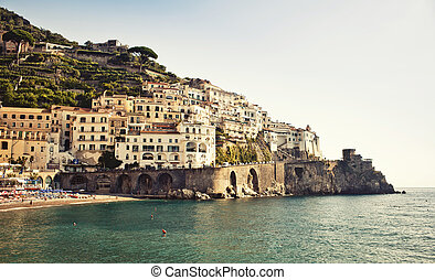 Amalfi Coast, Italy - View of the Amalfi Coast in Italy from...
