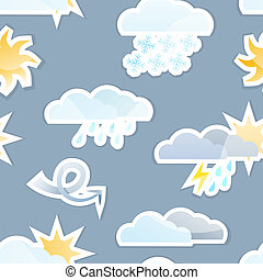 Seamless Weather Background - Seamless Weather Sticker Icon...