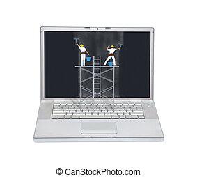 Laptop computer maintenance concept