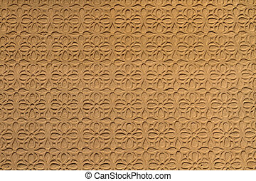 Moorish floral wall decoration, Spain - Moorish floral wall...