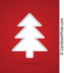 corte, árbol, navidad, afuera
