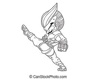 Muay Thai Boran :character cartoon9