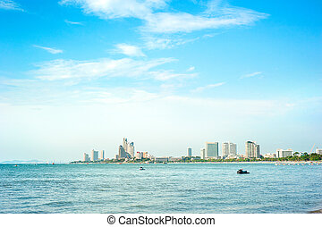 Pattaya - Skyline of Pattaya in the sunshine day, Thailand