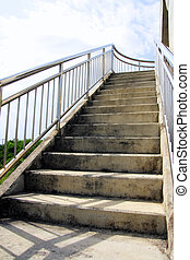 Stainless steel staircase in Elevated Walkway outdoor