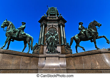 Vienna - Empress Maria Theresia Monument near Natural and...
