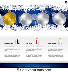Christmas website template design