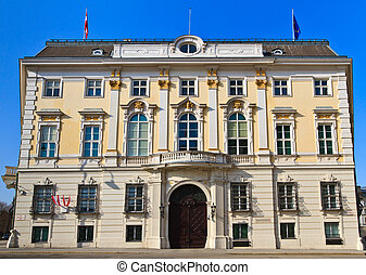 Office of the federal chancellor of Austria in Vienna...
