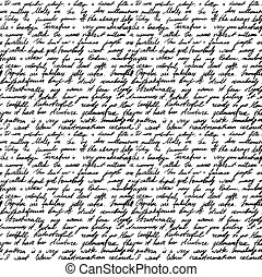 handwritten letter - Seamless background with handwritten...