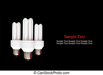 compact florescent light bulb - isolated compact florescent...