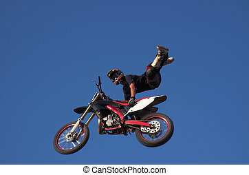 Moto X Freestyle 12 - Moto X Freestyle rider high in sky...