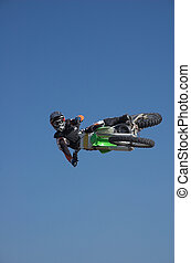 Moto X Freestyle 8 - Moto X Freestyle rider side jump high...