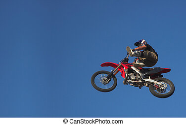 Moto X Freestyle 2 - Moto X Freestyle rider jumps high in...