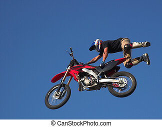 Moto X Freestyle 1 - Moto X Freestyle rider high in sky