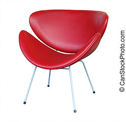 Modern Chair isolated with clipping path