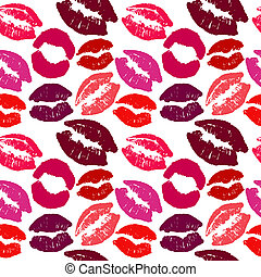 Vector seamless background with lips