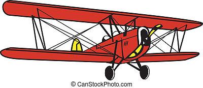 antique biplane - Biplane
