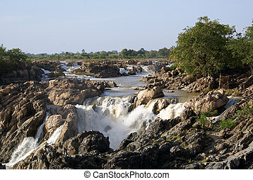 Waterfall in Laos - Waterfall on Mekong, South Laos...