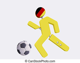 Football Player, Germany - 3D Football Player, Germany