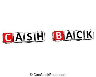 3D Cash Back Crossword on white background