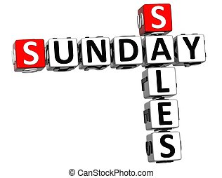 3D Sunday Sales Crossword