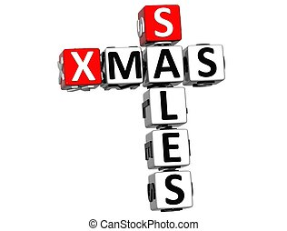3D Xmas Sales Crossword