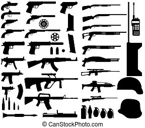 Army armament - Illustration of army armament on white...
